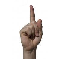 Erhobener Zeigefinger